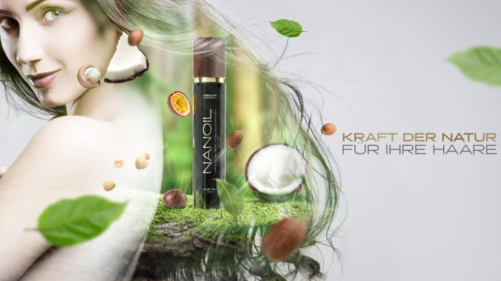 Haaröl Nanoil fürs Haar mit normaler Porosität